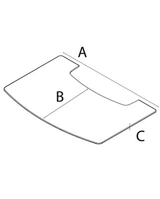 Напольное стекло/металлический лист для отопительных печей WIKING серия Miro